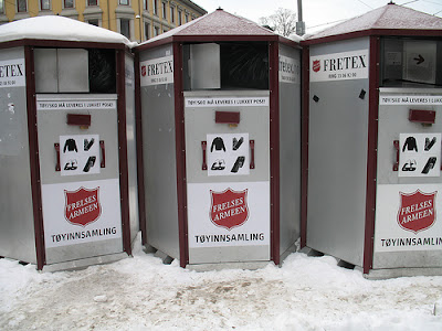 Salvation Army collection in Oslo, Norway