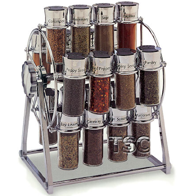 spice rack shaped like ferris wheel