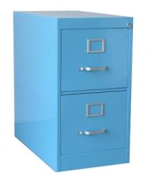 blue 2-drawer steel file cabinet