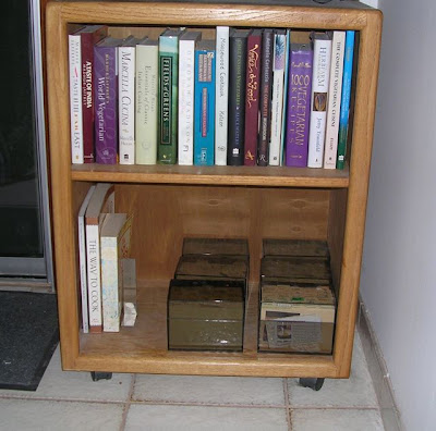cookbooks and recipe boxes