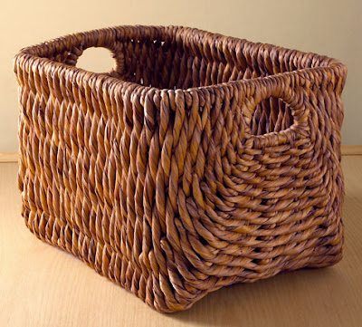 square water hyacinth basket