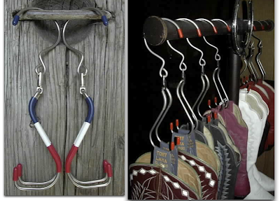 riding boot hanger - with and without boots