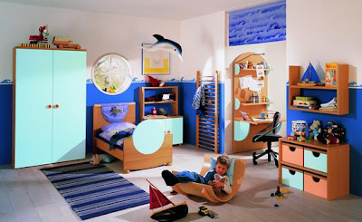 child's room with many types of storage