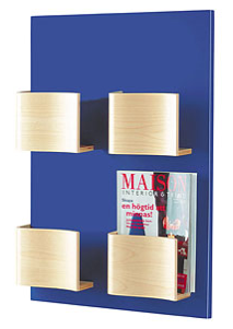 wall mounted magazine holder