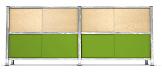 MShelving in green from Loadbearing