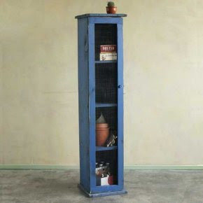 Blue chimney cabinet