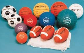 footballs, soccer balls, etc.