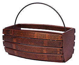 basket made from recycled wine barrels