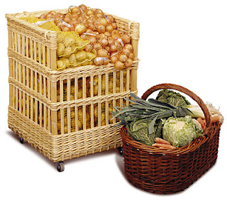 baskets for produce display, from France