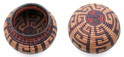 basket from Panama - two views