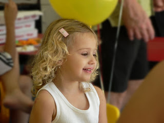 girl at birthday party