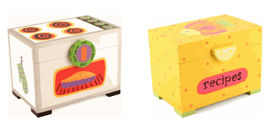 two recipe boxes