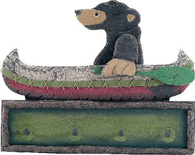 bear in canoe clothes peg