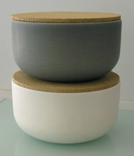 two earthenware storage pots by Vincent Van Duysen