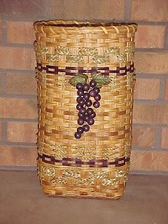 umbrella basket with wine grape embellishment