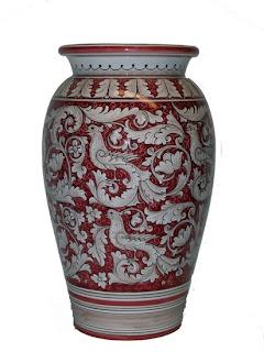 Italian ceramic umbrella stand