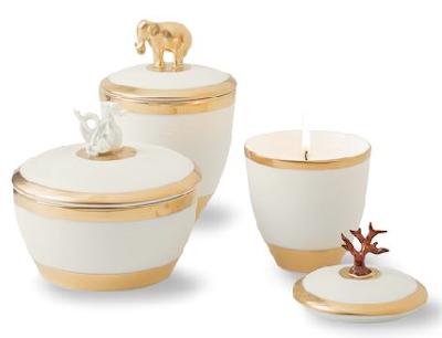 lidded candles, Limoges porcelain