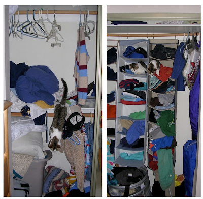 childrens' closet, before organizing