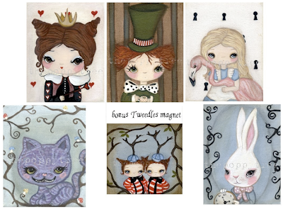 Alice in Wonderland magnet set