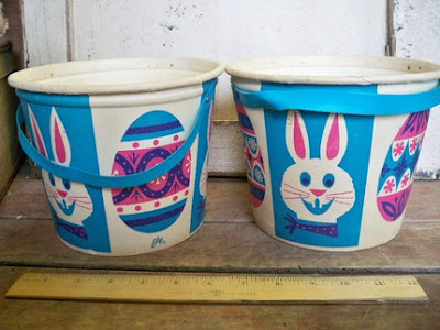 vintage Easter buckets