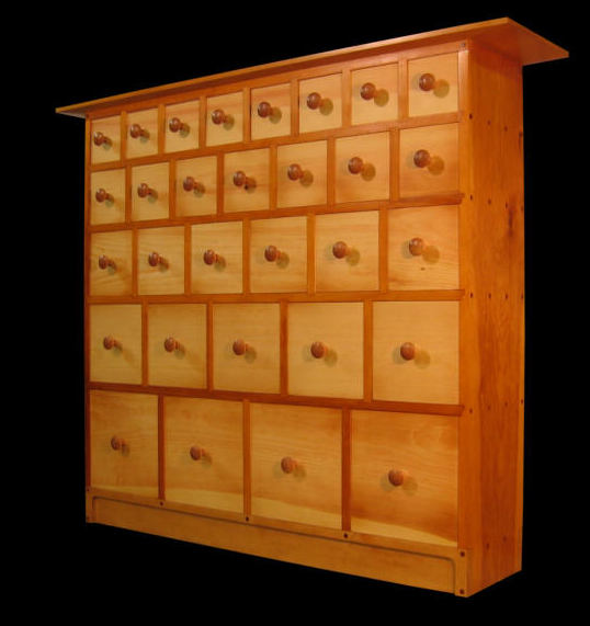 apothecary cabinets storage with many small drawers new