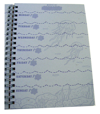 planner page with underwater images