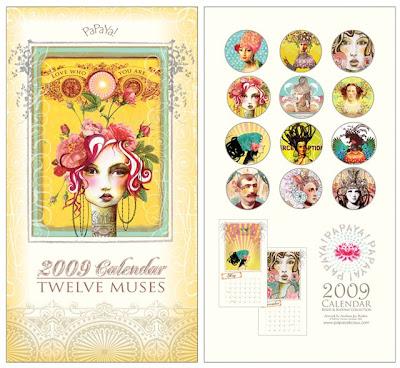 Twelve Muses wall calendar