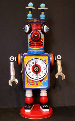 robot clock