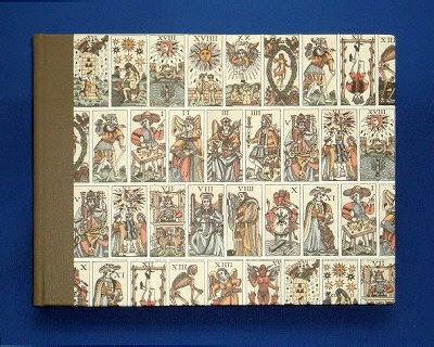 handmade address book with Tarot design cover