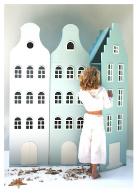 girl with closets shaped like houses