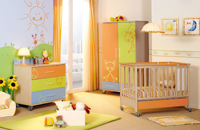 room of colorful children's furniture