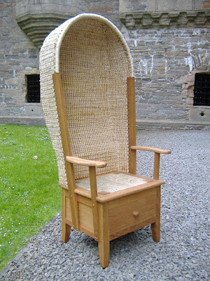 chair with hood and drawer