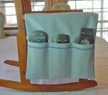 armchair caddy for remotes, etc.