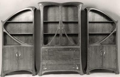 art nouveau bookcases