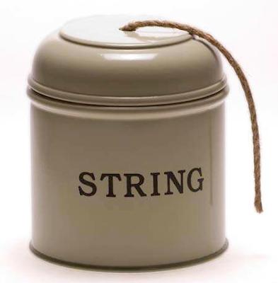 string dispenser, enameled tin, says string on it