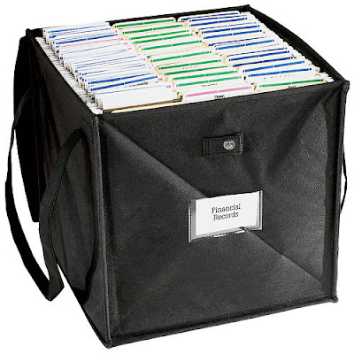 pop-up nylon file tote