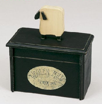 recipe box with sheep
