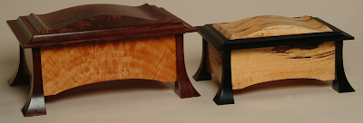 two wood jewelry boxes