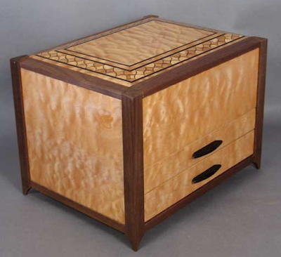 jewelry box with inlay work