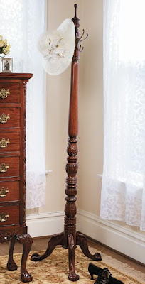mahogany coat tree