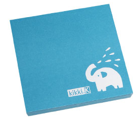 turquoise sticky note with elephant