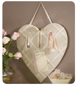 heart shaped ribbon board