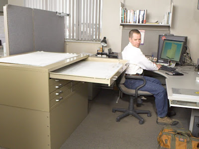 office with flat files