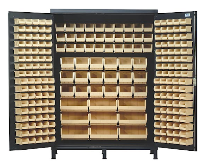 large bin cabinet