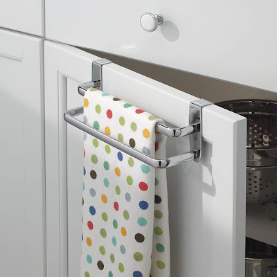 over the door kitchen dish towel rack