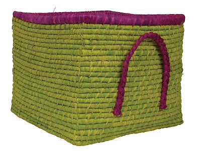 square raffia basket