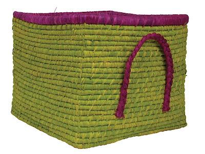 square raffia basket