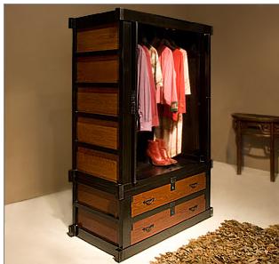 Asian-style wardrobe
