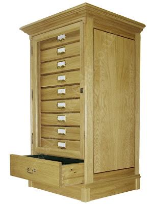 wood entomological cabinet