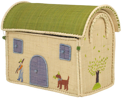 toy storage basket, looks like house